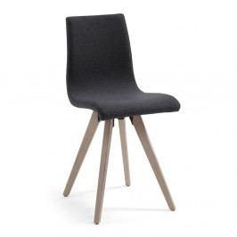 Tmavosivá jedálenská stolička La Forma Una