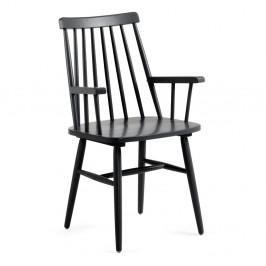 Čierna jedálenská stolička z dreva kaučukovníka La Forma Kristie