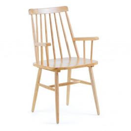 Prírodná jedálenská stolička z dreva kaučukovníka La Forma Kristie