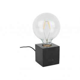 Čierna mramorová stolová lampa Zuiver Bolch