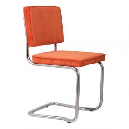 Sada 2 oranžových stoličiek Zuiver Ridge King Rib