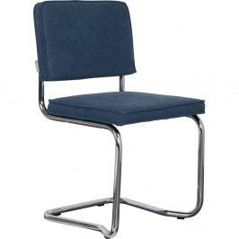 Sada 2 tmavomodrých stoličiek Zuiver Ridge Rib Kink Vintage
