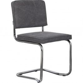 Sada 2 tmavosivých stoličiek Zuiver Ridge Rib Kink Vintage
