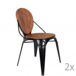 Sada 2 čiernych stoličiek Zuiver Louix