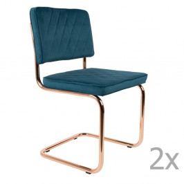 Sada 2 modrých stoličiek Zuiver Diamond