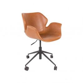 Hnedá kancelárska stolička Zuiver Office Chair Nikki