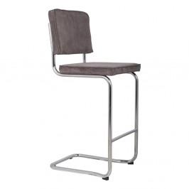 Tmavosivá barová stolička Zuiver Ridge Kink Rib