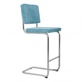 Modrá barová stolička Zuiver Ridge Kink Rib