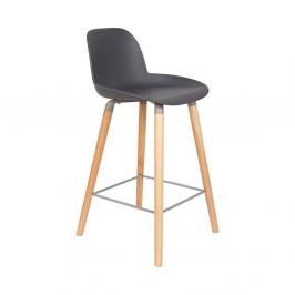 Sada 2 tmavosivých barových stoličiek Zuiver Albert Kuip, výška sedu 65 cm