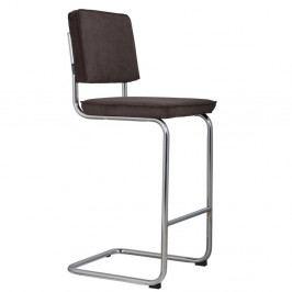 Tmavosivá barová stolička Zuiver Ridge Rib