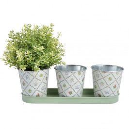 Sada 3 kvetináčikov Esschert Design Botanica