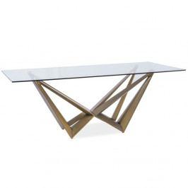 Jedálenský stôl s doskou z tvrdeného skla Signal Aston, 200×100cm