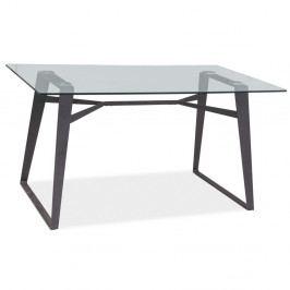 Jedálenský stôl s doskou z tvrdeného skla Signal Bolt, dĺžka 140cm