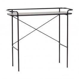 Čierny konzolový stolík Hübsch Catrine