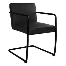 Sada 2 čiernych jedálenských stoličiek House Nordic Valbo