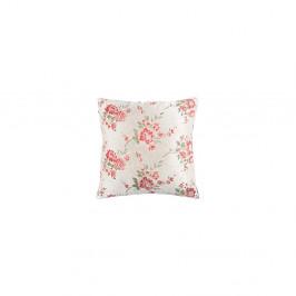 Biely kvetovaný vankúš White Label Jade, 45×45 cm