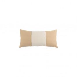 Béžový vankúš White Label Nick, 60×30 cm