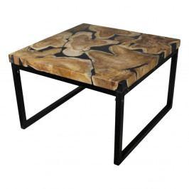 Konferenčný stolík z kovu a teakového dreva HSM collection Salon, 70×44cm