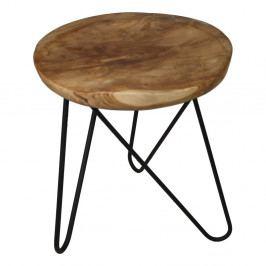 Odkladací stolík z teakového dreva HSM Collection Kruk