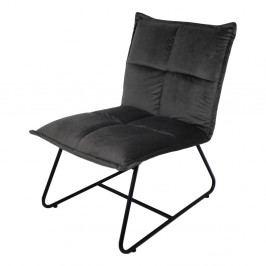Sivá stolička so zamatovým poťahom HSM Collection Estelle