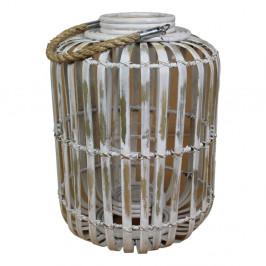 Sivý lampáš z bambusu HSM Collection