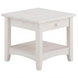 Biely konferenčný stôl so zásuvkou z masívneho borovicového dreva Støraa Chub S
