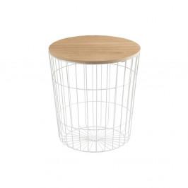 Biely odkladací stolík Actona Lotus Light, Ø 43 cm