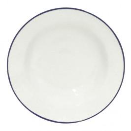 Biely kameninový polievkový tanier Costa Nova Beja, ⌀ 21 cm