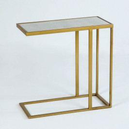 Kovový príručný stolík v zlatej farbe Thai Natura Uthai