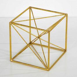 Dekorácia v zlatej farbe Thai Natura Geometric, 20×20cm