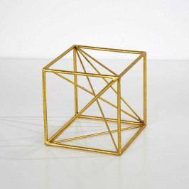 Dekorácia v zlatej farbe Thai Natura Geometric, 15×15cm
