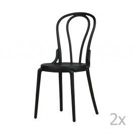 Sada 2 čiernych stoličiek De Eekhoorn Bibi