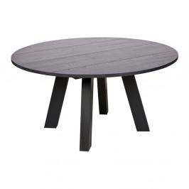 Čierny jedálenský stôl z dubového dreva De Eekhoorn Rhonda, Ø 150cm