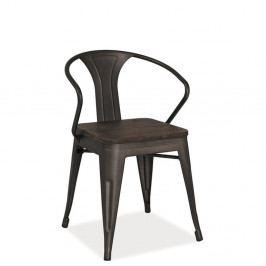 Čierna oceľová stolička Signal Alvaco