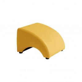 Žltá koženková podnožka Max Winzer Brandford