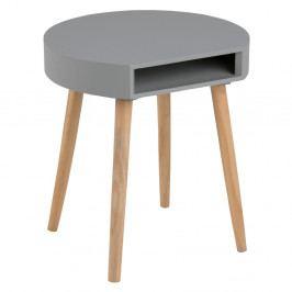 Sivý odkladací stolík s priehradkou Actona Ela