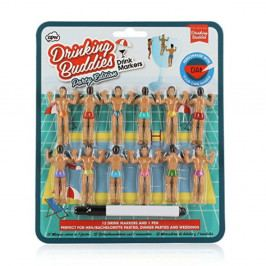 Sada 12 rozlišovačov na poháre NPW Drinking Buddies Bumper Pack