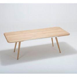 Jedálenský stôl s konštrukciou z masívneho dubového dreva so zásuvkou Gazzda Ena, 220×100cm