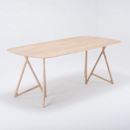 Jedálenský stôl z masívneho dubového dreva Gazzda Koza, 200×90cm