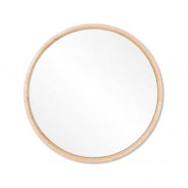 Nástenné zrkadlo s rámom z masívneho dubového dreva Gazzda Look, ⌀22cm