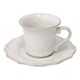 Biely hrnček s tanierikom Costa Nova Barroco, 120 ml