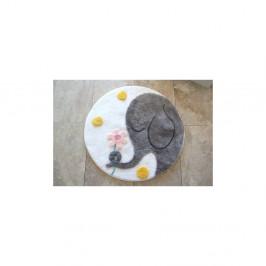 Kúpeľňová predložka s motívom slona Alessia Buyuk Fil Grey, Ø90 cm