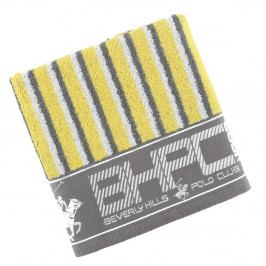 Sivo-žltý uterák Beverly Hills Polo Club Lawson, 50×100cm