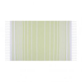 Zelená osuška Hammam Olive, 100×170 cm