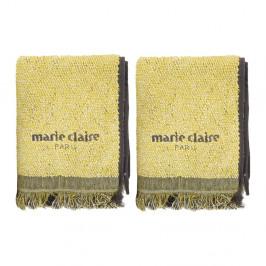Sada 2 žltých uterákov Marie Claire Colza, 40×60 cm