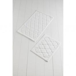 Sada 2 kúpeľňových predložiek zo 100% bavlny Dante Ecru