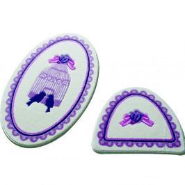 Sada 2 kúpeľňových predložiek Confetti Bathmats Birdcage