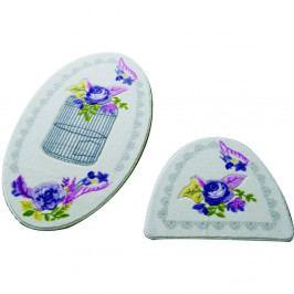 Sada 2 kúpeľňových predložiek Confetti Bathmats Flower Cage