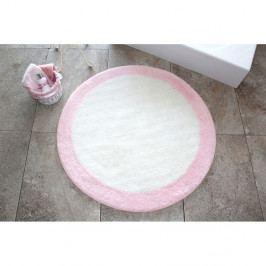 Kúpeľňová predožka Alessia Roda Pink, Ø90 cm