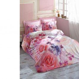Bavlnené obliečky na dvojlôžko s plachtou Roselove, 200×220 cm